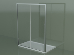 Sliding shower cubicle ZN 160, for a shower tray in a niche