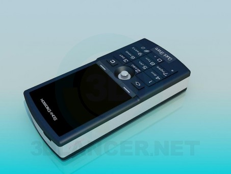 modelo 3D Teléfono móvil - escuchar