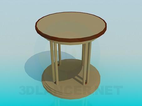3d модель Стіл з круглою стільницею – превью