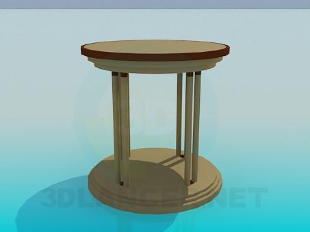 3d модель Стол с круглой столешницей – превью