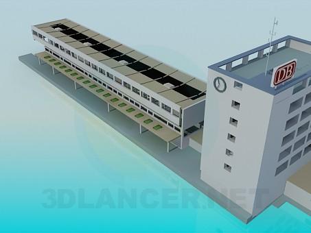 3d модель Вокзал – превью