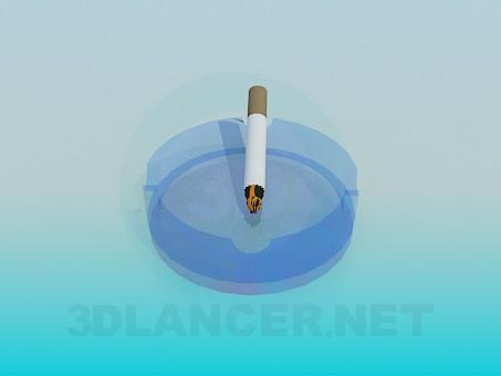 3d моделювання Попільничка з сигаретою модель завантажити безкоштовно