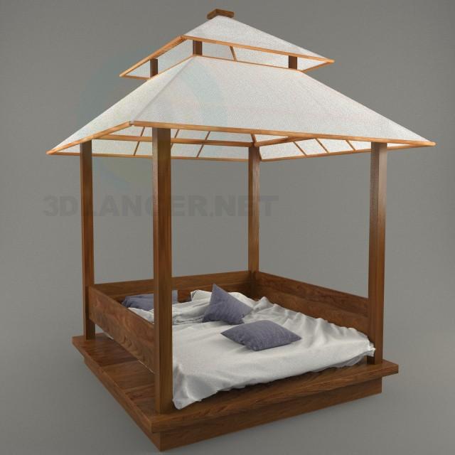 3d моделирование Кровать-беседка Gazebo модель скачать бесплатно