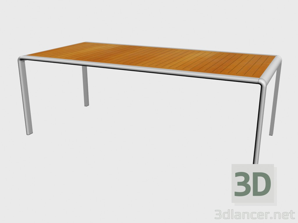 3d Model Teak Dining Table Top 51770