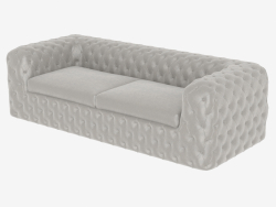 Sofa with combined upholstery CHELSEA (2600)