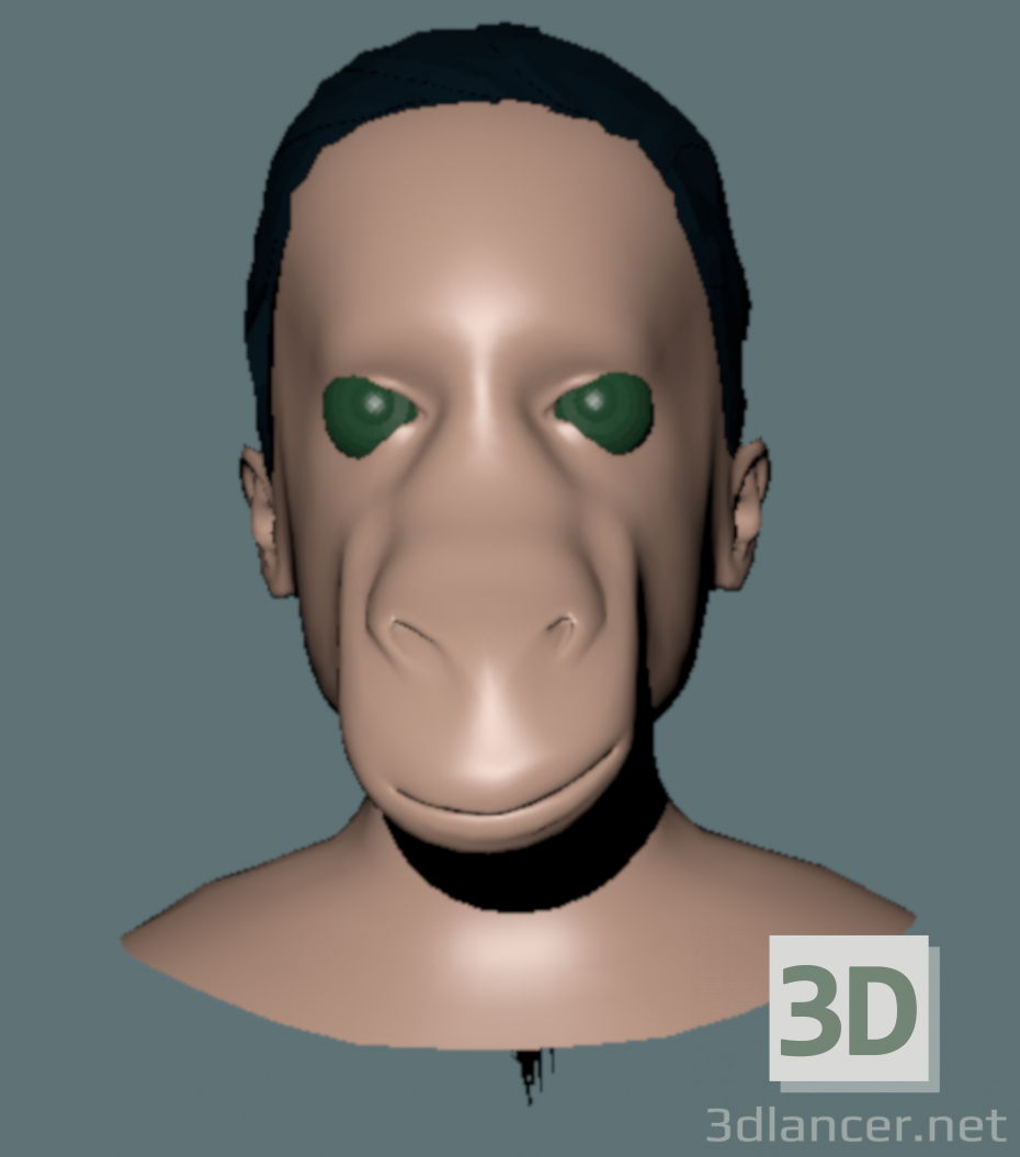 3d model How cute - preview
