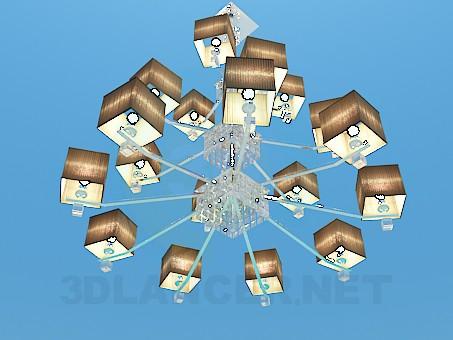 3d modeling three-level chandelier model free download