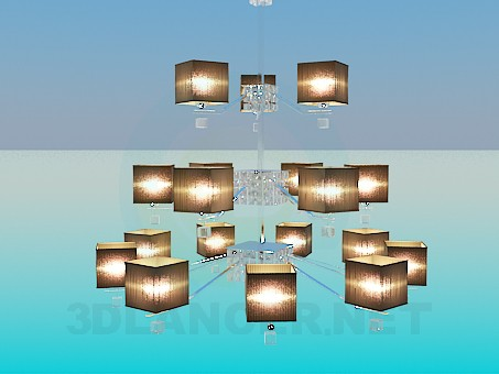 3d модель Трехярусная люстра – превью