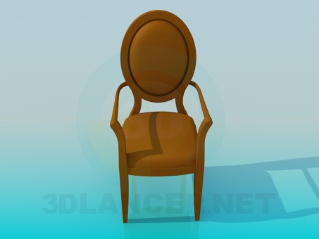 descarga gratuita de 3D modelado modelo Silla antigua