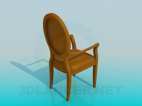 modelo 3D Silla antigua - escuchar