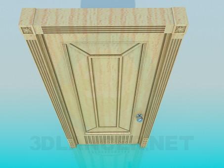 3d модель Дверь из светлого дерева – превью