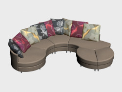 Sofa modular Lebourg (III-version)