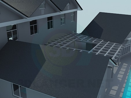 3d model House - preview