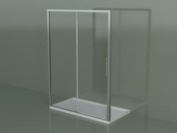 Box doccia scorrevole ZN 150, per piatto doccia in nicchia