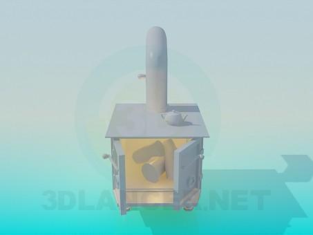 3d модель Печка – превью