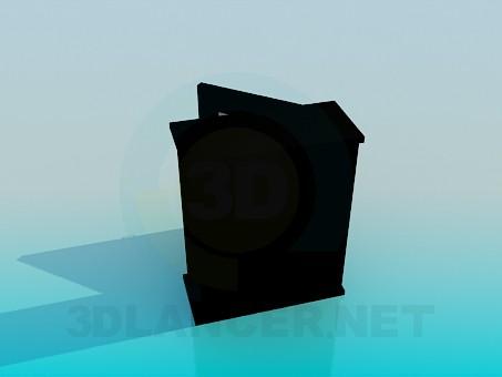 3d модель Неглубокая тумбочка – превью