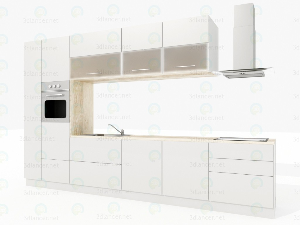 3d model kitchen in the style of minimalism id 14521 for Model kitchen images