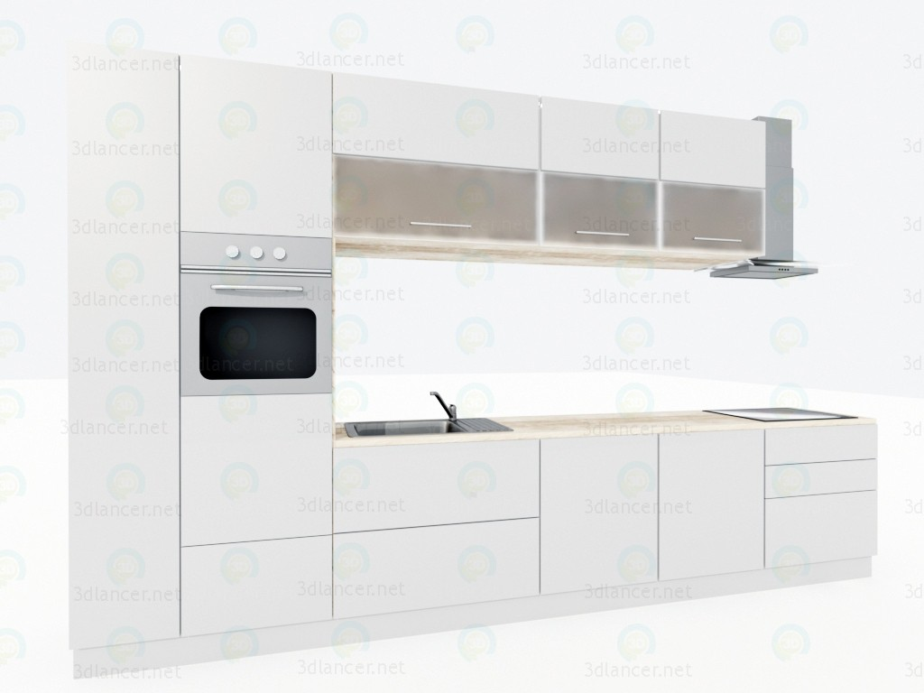 3d model kitchen style minimalism download for free for Model kitchen