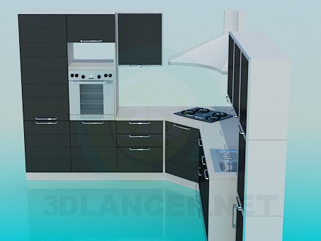 3d модель Мебель в кухню – превью