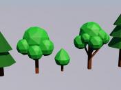 Lowpoly ağaçları