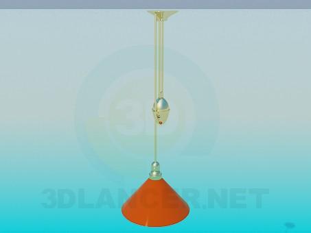 3d моделирование Светильник с регулятором высоты модель скачать бесплатно