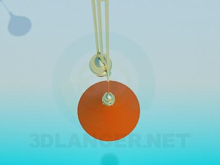 3d модель Светильник с регулятором высоты – превью