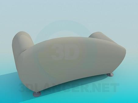 3d модель Топчан-софа – превью