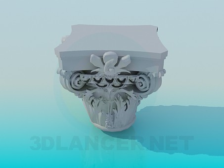 3d model plaster decoration id 8521 for 3d decoration models