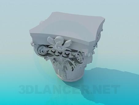 modelo 3D Decoración de yeso - escuchar