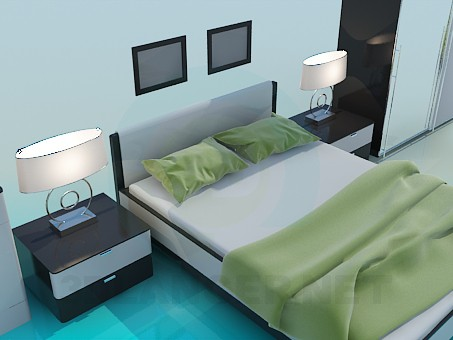 3d modeling A set of furniture in the bedroom model free download