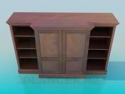 Gabinete con estantes