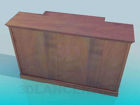 3d model Cabinet with shelves - preview