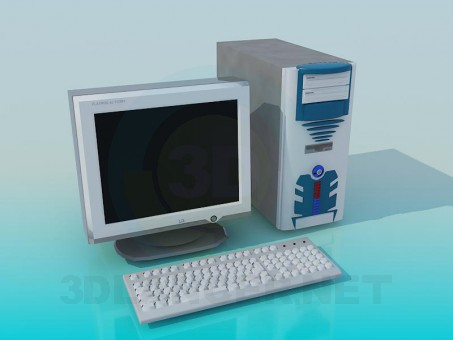 3d model Vieja PC - vista previa