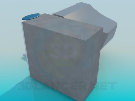 3d model Old PC - preview