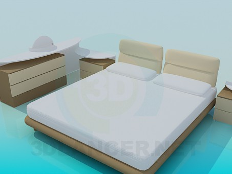 3d model A set of furniture for bedroom - preview