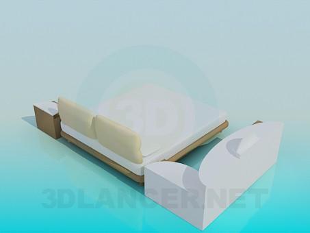 modelo 3D Un conjunto de muebles para el dormitorio - escuchar
