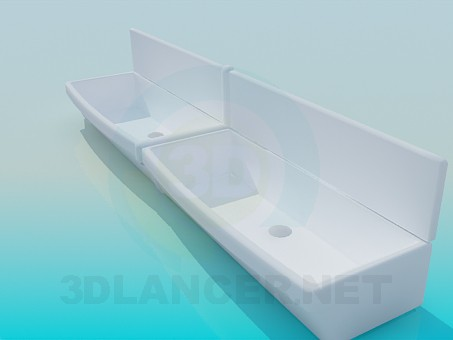 modelo 3D Lavabos grandes - escuchar