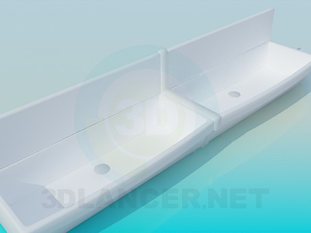 3d model Large wash basins - preview