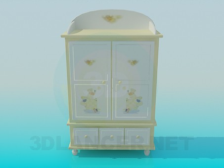 3d model Cabinet for children's clothing - preview