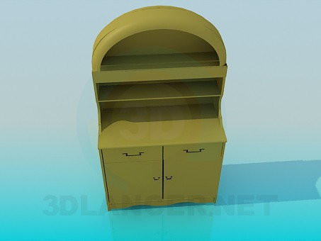 3d model Small sideboard - preview