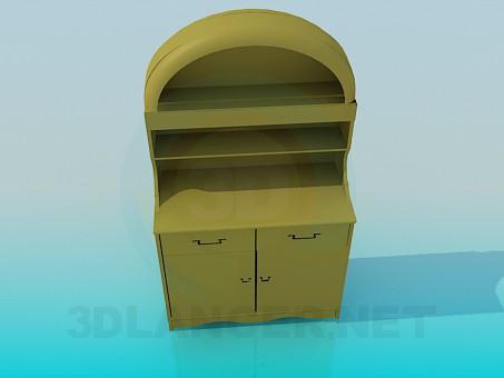 3d модель Небольшой буфет – превью