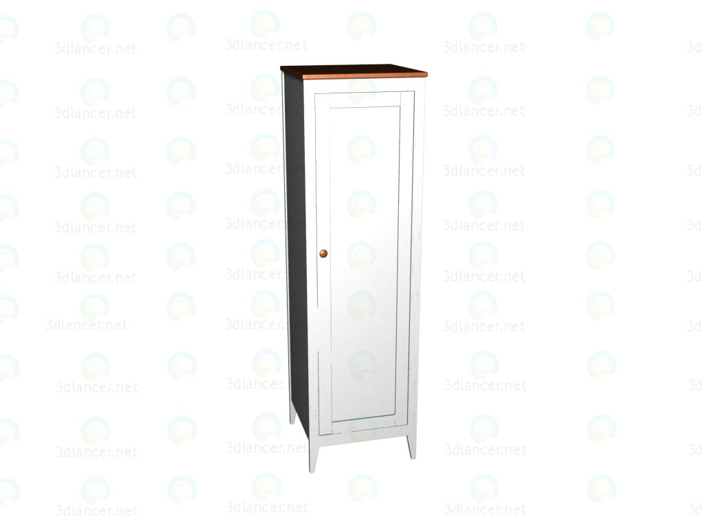 3d model Wardrobe 1 door - preview