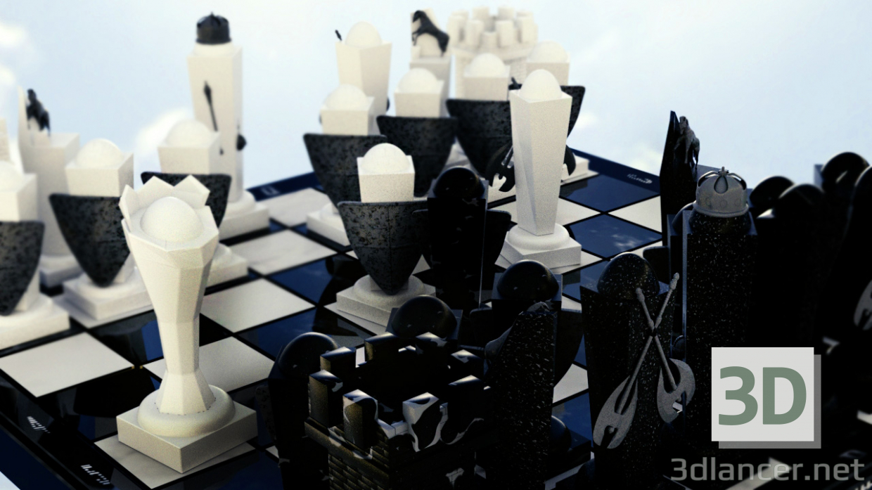 3d Chess for real men model buy - render