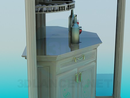 3d model Corner cupboard in the billiard room - preview