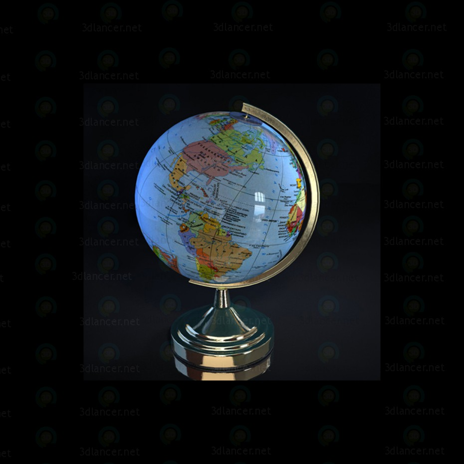 3d model Globe - preview