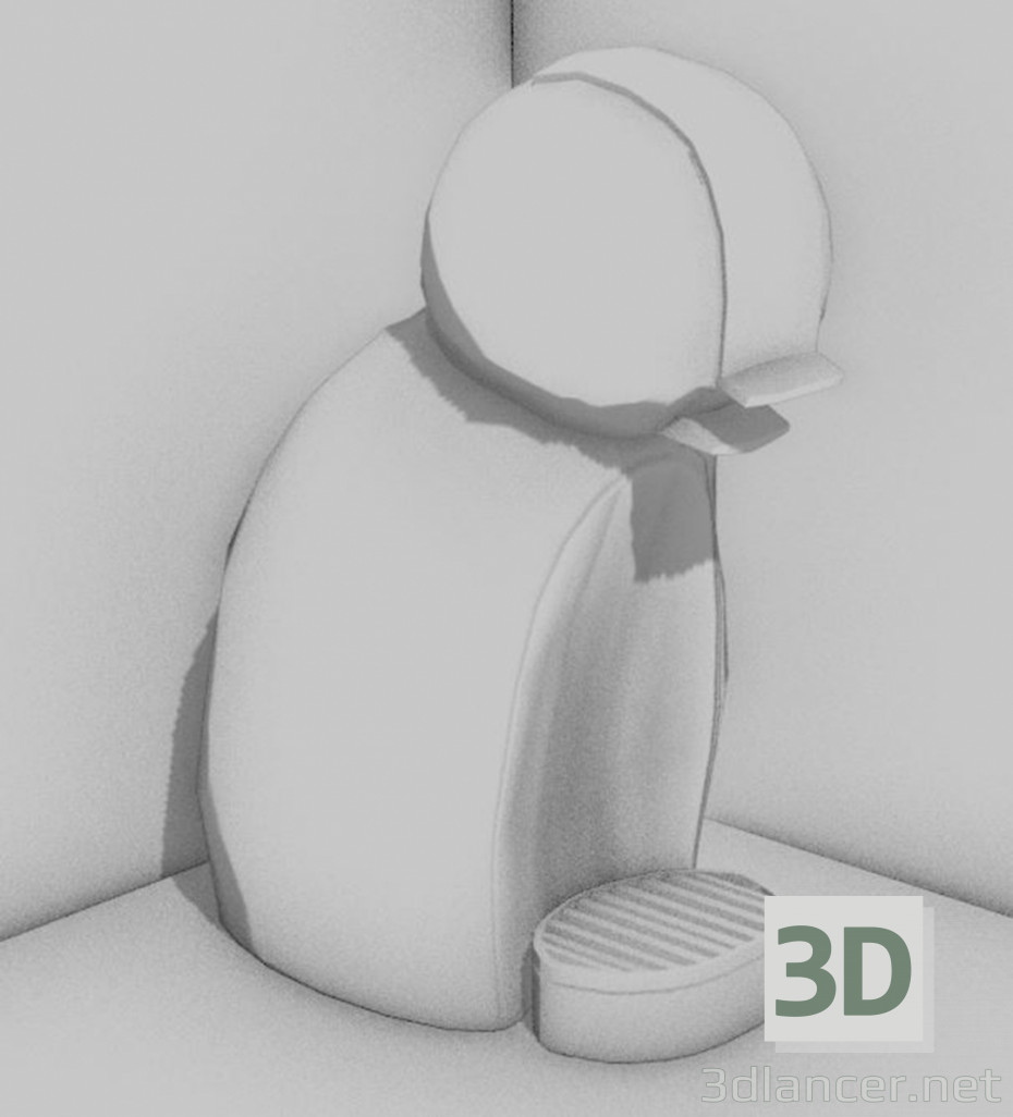 3d modeling Dolce Gusto Coffee Maker model free download