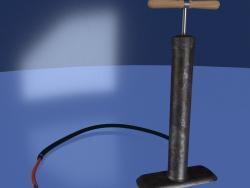 साइकिल चलाने के उपकरण के लिए पंप (मैनुअल ... या पैर)