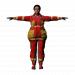 3d Selma Baba Firefighter model buy - render