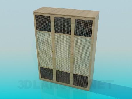 3d моделирование Шкаф трехдверный модель скачать бесплатно