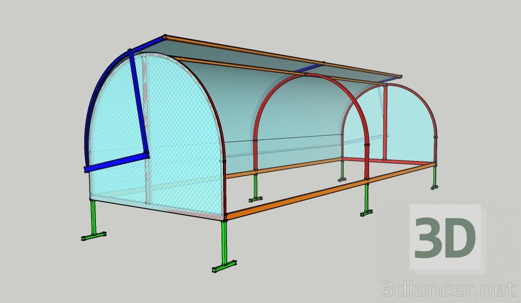 "3d model Greenhouse ""Khlebnitsa"" - preview"